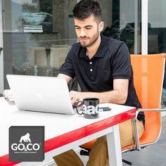 #PantalonGoCo kaki y #PoloGoCo negra, una pinta ideal para el trabajo. Encuentra estos y otros productos en Envigado Cll de la Buena Mesa y en Guayabal #BeGoC