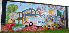 Jerome Ferretti Corktown, Detroit mural. PURE DETROIT