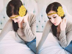 Mustard Lily Flower Headband