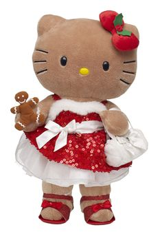 Sweet Sequin Gingerbread Hello Kitty- Build-A-Bear Workshop Sanrio Hello Kitty, Hello Kitty Plush, Hello Kitty Items, Hello Kitty Christmas, Miss Kitty, Kawaii Plush, Hello Kitty Collection, Hello Kitty Wallpaper, Build A Bear