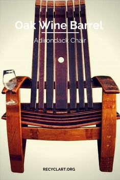 I make Wine barrel Adirondack chairs from used Napa oak wine barrels. I started this in my garage several years ago and it is now a hobby gone wild! For the first year or so I experimented with all the dimensions and angles of the chair, and I think I have come up with a … Read More » #Barrel, #Chair, #Oak, #Patio, #Upcycled #RecycledFurniture