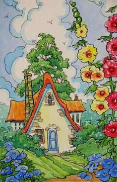 Return to Hollyhock Cottage  by Alida Akers