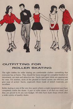 """SKATE~♥ """"outfitting"""" for roller skating"""