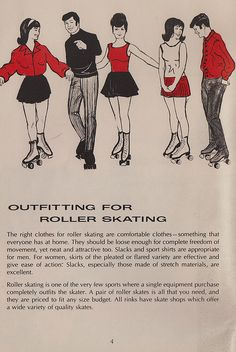 "SKATE~♥ ""outfitting"" for roller skating"