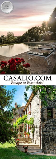 www.casalio.com || The Sambuco Villa || Italy - Orvieto || Built in 19th century as a self-sufficient farmhouse, elegantly restored. It overlooks a green tableland where you can see sheep grazing. Close to the house there is a beautiful infinity swimming pool equipped w/ deckchairs, under a canopy, table & chairs for lunch. Horseback riding available. #Luxury #Villas #LuxuryVillas #Italy #LuxuryTravel #Travel (Pinned by #Casalio - www.casalio.com) Our travel blog - www.casaliotravel.com