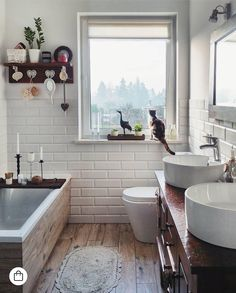 121 small elegant bathroom decor ideas within budget page 88 Elegant Bathroom Decor, Rustic Bathrooms, Bathroom Interior Design, Small Bathrooms, Bad Inspiration, Bathroom Inspiration, Bathtub Decor, Bathroom Red, Bathroom Ideas