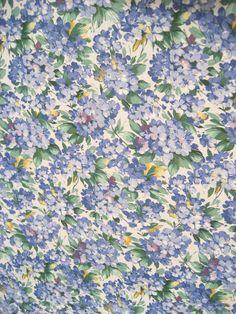 Vintage Cotton Tablecloth Spring Violet Blue Flowers Rectangular 5 Napkin Brazil