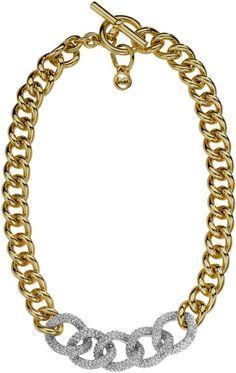 Pave Link-chain Necklace - Lyst