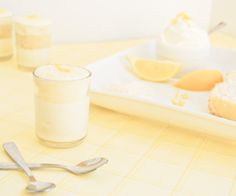 Lemon Yogurt Mini Parfaits: Tart and Sweet but not too many calories.  Great for a baby shower.
