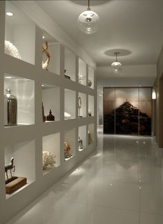 Wall Niche Hall Design Ideas, Pictures, Remodel and Decor Niche Design, Hall Design, Design Hall Entrada, Flur Design, Hallway Designs, Hallway Ideas, Modern Interior Design, Built Ins, Interior Decorating