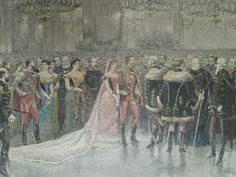 The King and Queen of Hungary, Franz Joseph and Sissi. 1870's