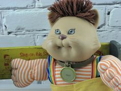 Vintage Cabbage Patch Kids Doll Koosas Cat Brown Hair 1983