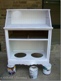 Create a feeding station and storage unit for your dog!