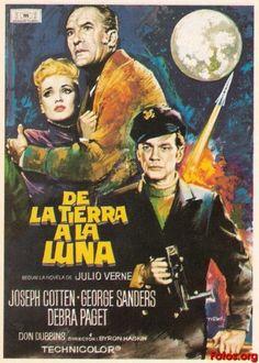 Ciencia ficción , Aventura espacial, Steampunk, 1958, De la tierra a la luna