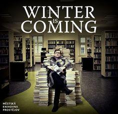 Winter Is Coming to #library #GOT Bavíme se po zavíračce. ;-)
