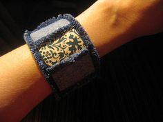 Cantinho craft da Nana: Tutorial pulseira jeans