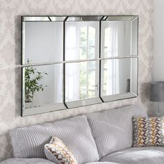 Byblos Silver 6 Panel Rectangular wall Mirror - x - , available to buy online or at Choice Furniture Superstore UK on stockist sale price. Get volume - discount with fast and Free Delivery. Lounge Mirrors, Living Room Mirrors, Bedroom Mirrors, Hallway Mirror, Wall Mirrors, Glass Mirrors, Venetian Mirrors, Extra Large Mirrors, Art Deco Mirror
