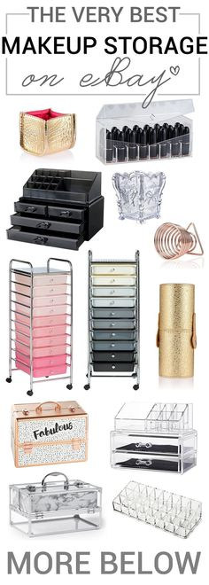 New Makeup Room Black Drawers Ideas Best Picture For make up room studio makeup vanities For Makeup Storage Units, Good Makeup Storage, Makeup Storage Solutions, Makeup Storage Organization, Make Up Storage, Diy Storage, Organization Ideas, Storage Hacks, Storage Organizers
