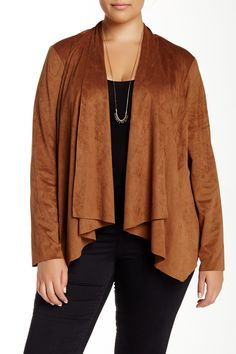 Faux Suede Jacket (Plus Size) by Live a Little on @nordstrom_rack