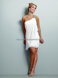 Very cute for the evening if you wanted to change out of your long wedding dress . . . LOVE