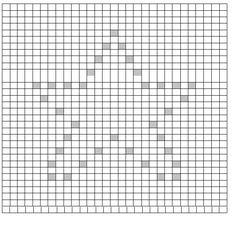 Knot Your Nana& Crochet: Twinkle Twinkle Little Star (Bobble Charts) Filet Crochet, Crochet Puntada Bobble, Sc Crochet, Bobble Stitch Crochet, Crochet Stitches Chart, Graph Crochet, Crochet Stars, Crochet Blocks, Knitting Charts