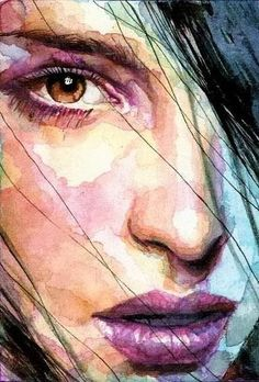 "ufukorada: "" Artist: David Mack "" ""The eye you see is not an eye because y. - ufukorada: "" Artist: David Mack "" ""The eye you see is not an eye because you see it; L'art Du Portrait, Portrait Paintings, Watercolor Portraits, Female Portrait, Watercolor Paintings, Woman Portrait, Girl Paintings, Watercolor Art Face, Simple Watercolor"