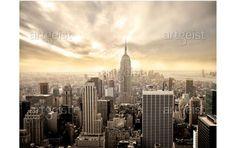 Fotomurale New York: Manhattan all'alba - New York - Citta' - Viaggi - Fotomurali