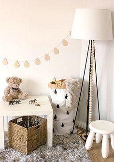 Wooden raindrop garland Nursery garland Baby room by BabyMoreGoods