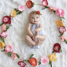 """6 months ago today, I met the most beautiful baby girl with adorable plump cheeks and the most """"on point"""" eyebrows I have ever seen on a… 3 Month Old Baby Pictures, Three Month Old Baby, Little Girl Pictures, Milestone Pictures, Monthly Baby Photos, Baby Girl Photos, Baby Month By Month, Baby Girl Photography, Girl Photo Shoots"""