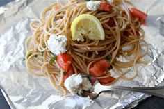 Tasty Kitchen Blog: Grilled Pasta Packets. Guest post by Dara Michalski of Cookin' Canuck, recipe submitted by TK member Lindsay of Eath 80/20.