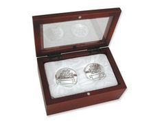 Baby's My First Curl And My First Tooth Silver Plated Keepsake Boxes