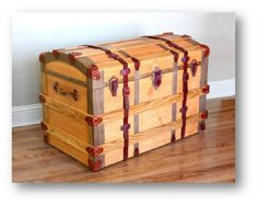 A simple wooden treasure chest can be built in an afternoon Plan the size of your chest A bench style coat rack