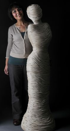 Hand built coiled stoneware sculptures by Ferri Farahmandi Ceramics.