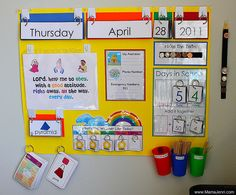 Calendar circle time....I like the way you can flip the date and the weather!!! Great idea but cute!
