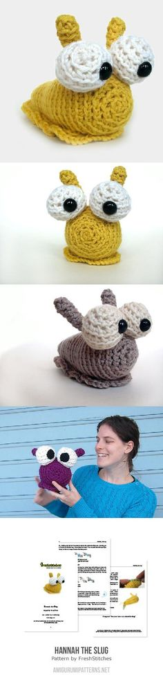 Hannah The Slug Amigurumi Pattern