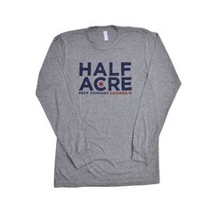 Heather Grey w/ dark navy/red; Long Sleeve; Unisex; AA; Blended (50%  Polyester, 25% Cotton, 25% Rayon); Minimal Shrinkage;select sizes of this  Item are also available at our shop on lincoln ave.
