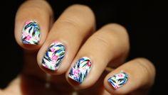 Tropical Jungle Nail Art