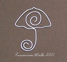Marcador de paraguas por TuranianWalk en Etsy