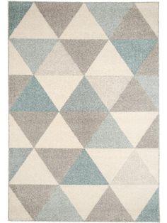 "benuta Pastel Geomet Modern Rug Turquoise 120x170 cm (3ft11"" x 5ft7"") - Quality…"