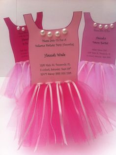 Ballerina Tutu Party InvitationSet of 8 by ThePolkaDottedRoom, $35.00