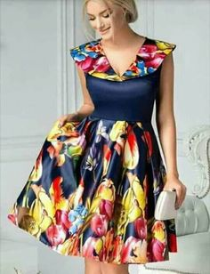 Customized Colorful V-Neck Party Dresses, Party Dresses Short, Yellow Party Dresses, Backless Prom Dress Short African Dresses, Ankara Short Gown Styles, Latest African Fashion Dresses, African Print Dresses, African Print Fashion, Short Gowns, African Print Dress Designs, Traditional African Clothing, African Attire