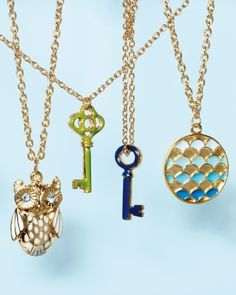 Beautiful DIY jewelry crafting - love the vintage look of these charm necklaces #marthastewart #plaidcrafts