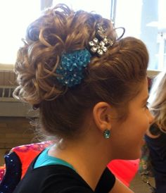Beautiful Irish dance hair for my Megan.