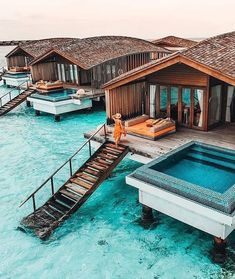 luxury travel Stairway to the sea in the Maldives.rsbn) tasteinhotels for more luxury travel inspiration. Vacation Places, Dream Vacations, Vacation Spots, Places To Travel, Vacation Trips, Popular Honeymoon Destinations, Travel Destinations, Beautiful Hotels, Beautiful Places