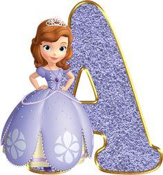 Alfabeto Decorativo: Alfabeto - Princesa Sofia 3 - PNG - Completo - Mai...