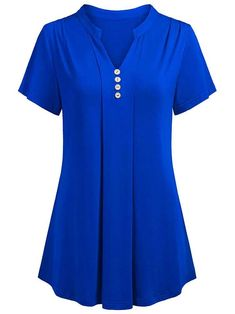 Plus Size Women Summer Casual Solid Short Sleeve Tops Sexy Deep V-neck Button Shirts Chemise Femme Ladies Fashion Loose Blouse Cotton Silk T-shirt Baggy Shirts, Baggy Tops, Shirt Blouses, Women's Tops, Cold Shoulder Shirt, Shoulder Shirts, Silk T Shirt, Cotton Blouses, Cotton Silk