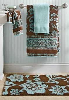 Darkchoc Brown And Blue Wouldnt Want Accessories To Be Both - Blue and brown bathroom sets for small bathroom ideas
