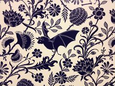 Elysian Fields Wallpaper, designed by Dan Funderburgh
