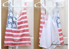 4th of July Shirts! I like this idea, no sewing required. @everyone ... I'm going to make this for the 4th - want one??