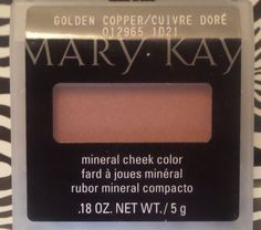 Mary Kay Mineral Cheek Color GOLDEN COPPER day code 1D21 1 day handling #MaryKay